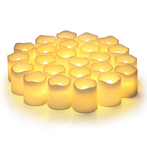 Flameless Votive Candles,Flameless Flickering Electric Fake Candle,Pack of...
