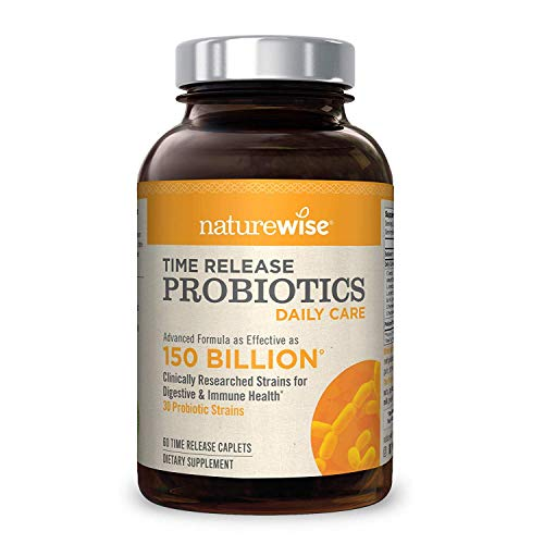 NatureWise Daily Probiotics for Women and Men | Time-Release, Comparable to...
