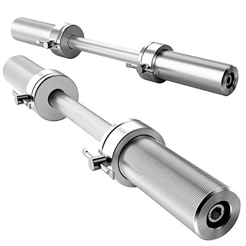 Annzoe Olympic Dumbbell Handles Pair 20' of Dumbbell Handles Weight Plates...