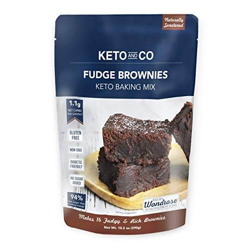 Keto Fudge Brownie Mix by Keto and Co   Just 1.1g Net Carbs Per Serving  ...