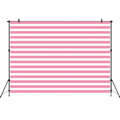 White and Pink Stripe Backdrop Photo Booth Background Valentine Abstract...