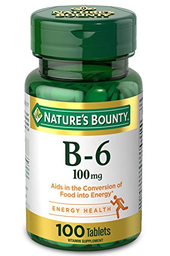 Nature's Bounty Vitamin B-6 Supplement, Supports Metabolism and Nervous...