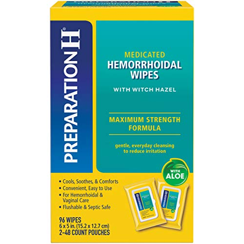 Preparation H Flushable Medicated Hemorrhoid Wipes, Maximum Strength Relief...