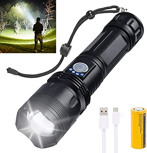 Rechargeable LED Flashlights High Lumens, 10000 Lumens Super Bright...