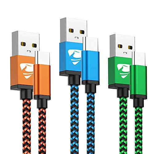 Type C Cable Fast USB C Charging 6FT 3Pack Power Cord Braided Phone Charger...