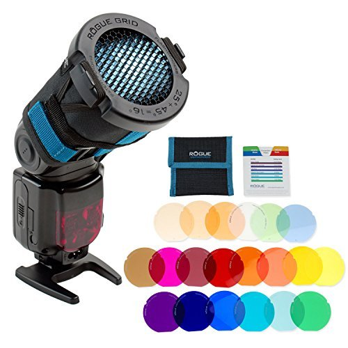 Rogue 3-in-1 Flash Grid + Rogue Grid Gels Combo Filter Kit (20 Colors)