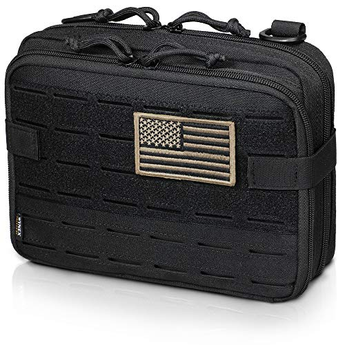 WYNEX Tactical Molle Admin Pouch of Laser Cut Design, Utility Pouches Molle...
