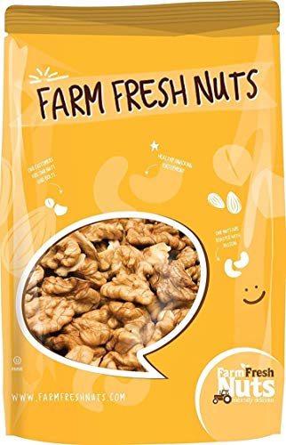 Raw Shelled California Walnuts Halves & Pieces (1 Lb.) - Compares to...
