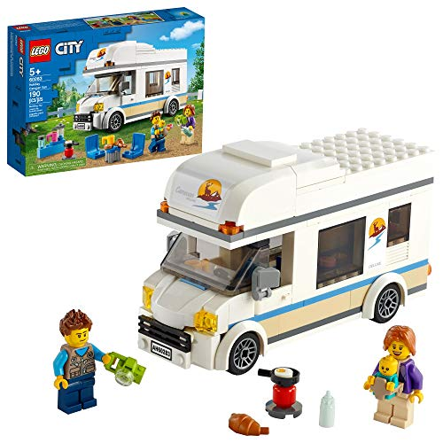 LEGO City Holiday Camper Van 60283 Building Kit; Cool Vacation Toy for...