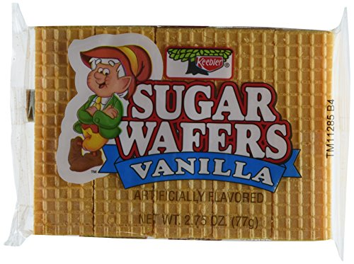 Keebler Sugar Wafer 2.75 Packages , vanilla, 33 Ounce, (Pack of 12)