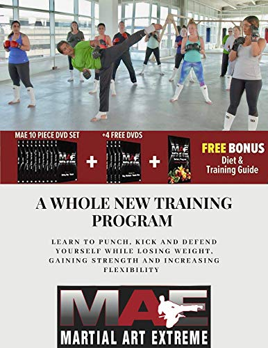 MAE - High Intensity Home Workout Program DVD Set, Combines Boxing,...