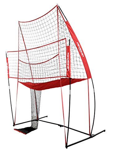 PowerNet Volleyball Practice Net Station | 8 ft Wide by 11 ft High | Ball...