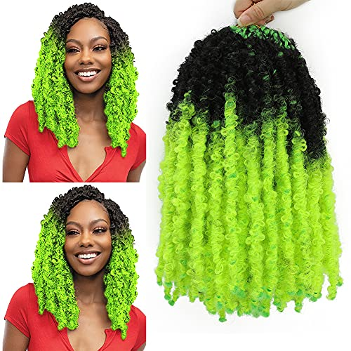 6Pack Ombre Butterfly Locs Crochet Hair 14inch Short Bob Distressed Faux...