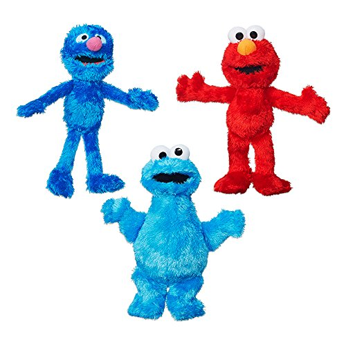 Sesame Street Plush Bundle featuring Elmo, Cookie Monster and Grover, Ages...