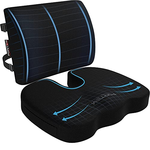FORTEM Chair Cushion, Seat Cushion for Office Chair, Lumbar Support Pillow...