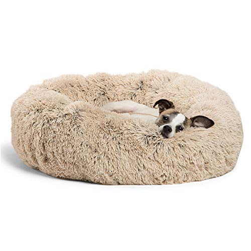 Best Friends by Sheri The Original Calming Donut Cat and Dog Bed in Shag...