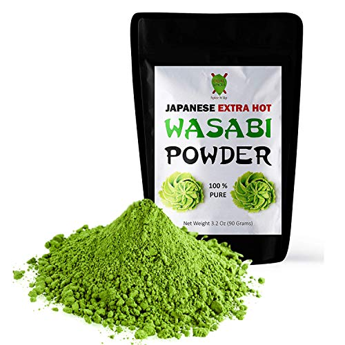 Dualspices Japanese Wasabi Powder 3.2 Oz (90 Grams) Extra Hot - No Fillers...