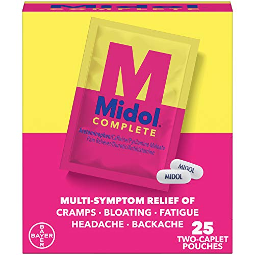 Midol Complete Caplets with Acetaminophen for Menstrual Symptom Relief - 50...