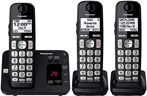 Panasonic DECT 6.0 Expandable Cordless Phone System with Answering Machine...