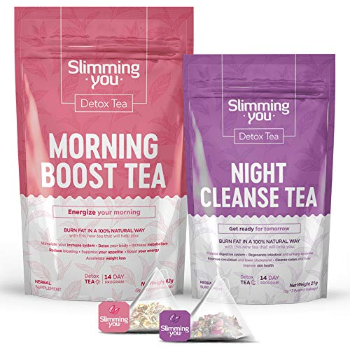 Detox Tea for Weight Loss and Belly Fat, 14 Day Teatox Herbal Slim Tea for...