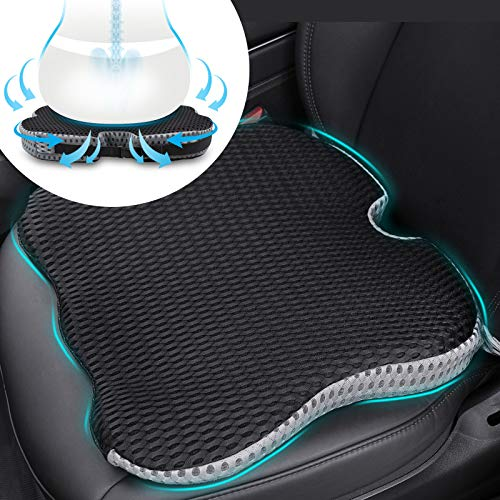 Car Coccyx Seat Cushion Pad for Sciatica Tailbone Pain Relief, Heightening...