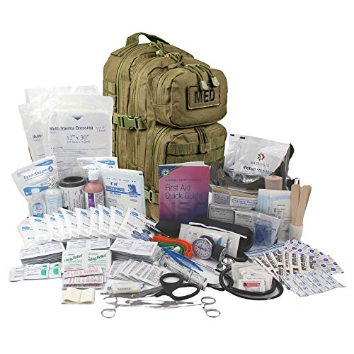 Luminary Global Tactical Trauma Kit Fully Stocked First Aid Kit Backpack...