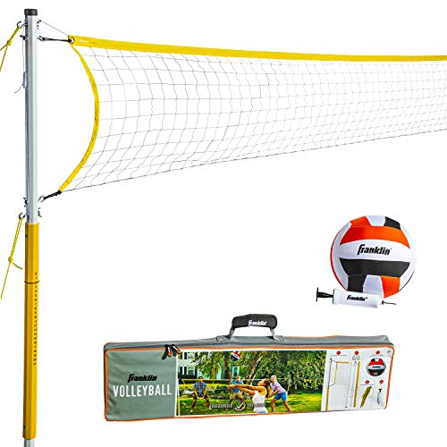 Franklin Sports 52641 Volleyball Set - Backyard Volleyball Net Set with...