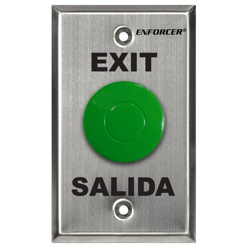 Seco-Larm Enforcer Green Mushroom Button Push-to-Exit Plate with Timer...