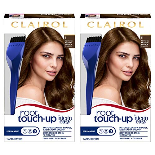 Clairol Root Touch-Up by Nice'n Easy Permanent Hair Dye, 5 Medium Brown...