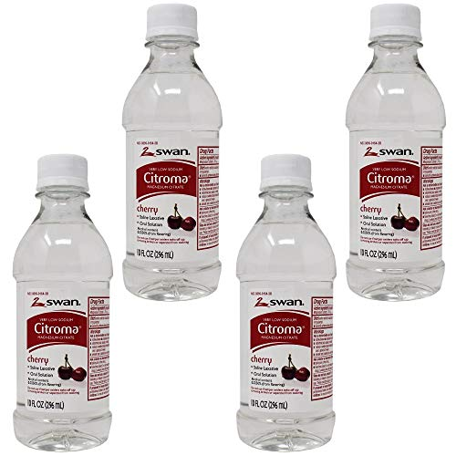 Swan Citroma Magnesium Citrate Oral Solution Saline Laxative, Cherry...