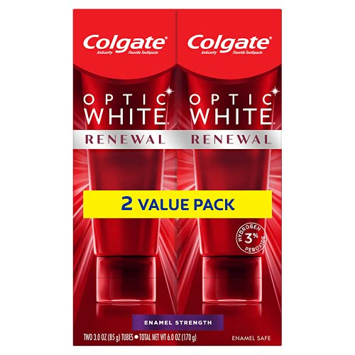 Colgate Optic Renewal Teeth Whitening Toothpaste with Fluoride Hydrogen...