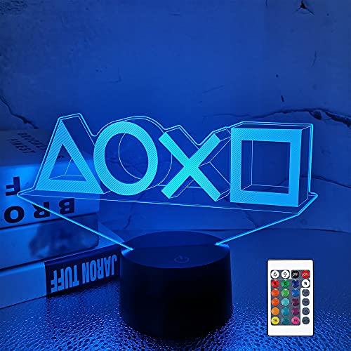 Lampeez 3D Night Light, Game LED Illusion Lamps, 16 Colors USB Charging...