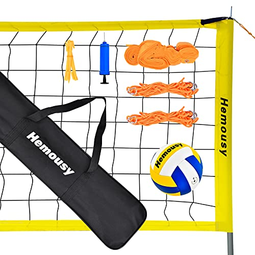 Hemousy Volleyball Net,Portable Volleyball Training Equipment Include...