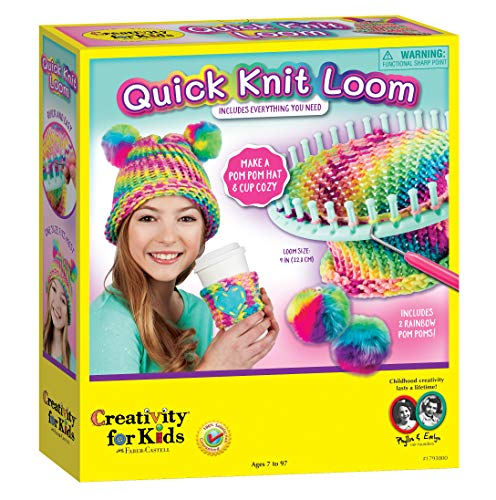 Creativity for Kids Quick Knit Loom – Make Your Own Pom Pom Hat And...