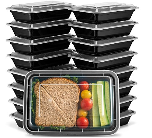 Ez Prepa [20 Pack] 28oz Single Compartment Meal Prep Containers with Lids -...