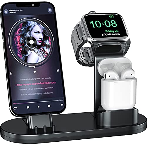 OLEBR 3 in 1 Charging Stand iwatch Stand, Charging Station Compatible with...