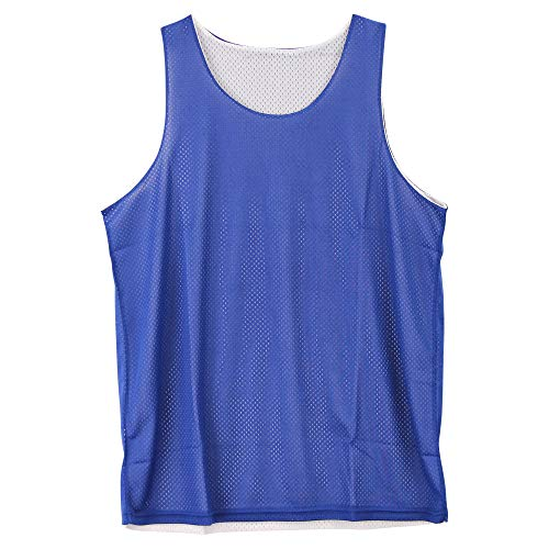 Reversible Basketball Jerseys Pinnies for Kids and Adults (Blue/White,...