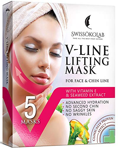Double Chin Reducer V Line Lifting Mask Face Slimming Strap Chin Neck V...