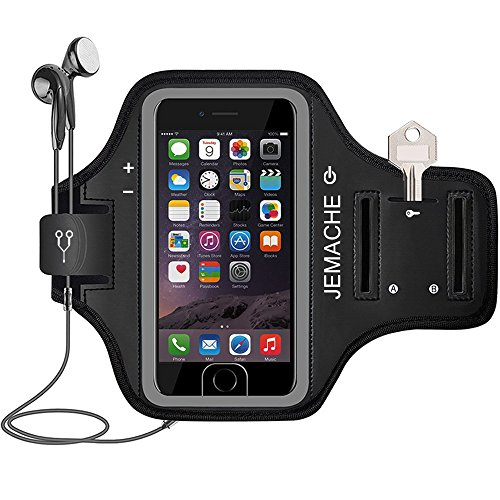 iPhone 6 7 8 SE(2020) Armband, JEMACHE Fingerprint Touch Supported Gym...