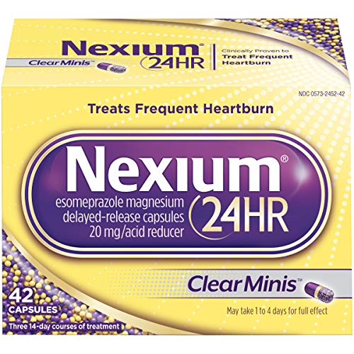 Nexium 24HR (42 Count, ClearMinis) All-Day, All-Night Protection from...