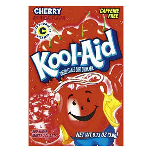 Kool-Aid Cherry Unsweetened Soft Drink Mix, 0.13-Ounce Envelopes(Pack of...