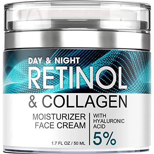 Retinol Cream for Face – Facial Moisturizer with Hyaluronic Acid and...