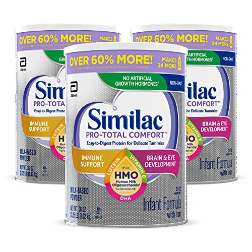 Similac Pro-Total Comfort Non-GMO with 2'-FL HMO Infant Formula with Iron,...