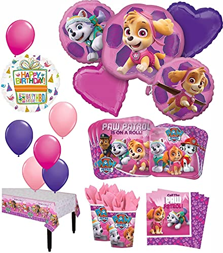 Mayflower Products 8 Guest 53pc Paw Patrol Girls Skye and Everest Birthday...