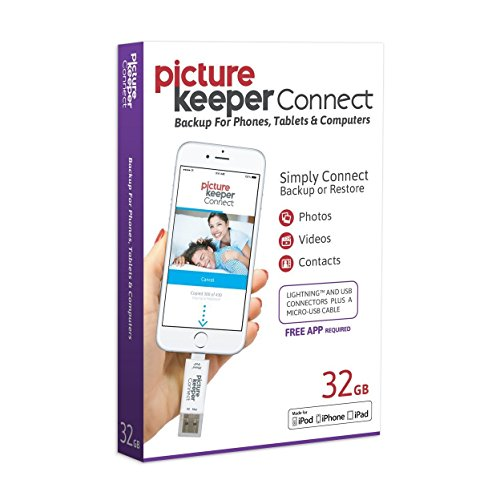 Picture Keeper CONNECT 32GB Portable Flash USB Backup and Storage Device...