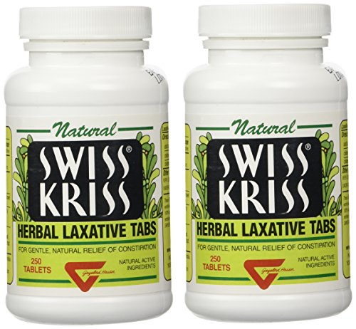 Modern Natural Products Swiss Kriss Herbal Laxative - 250 Tablets (2 PACK)
