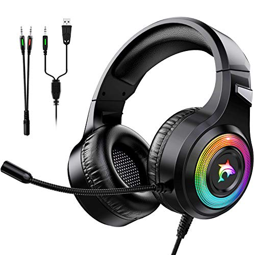 Gaming Headset Xbox One Headset with Stereo Surround Sound,PS4 Gaming...