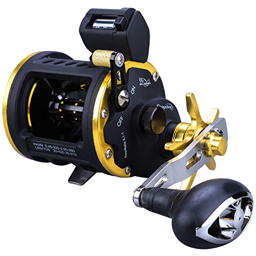 Sougayilang Line Counter Fishing Reel Conventional Level Wind Trolling...