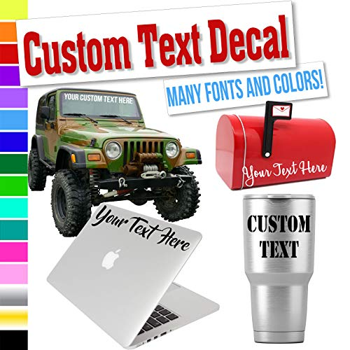 Custom Decal Text Name Sticker Compatible with Yeti Tumbler Cup, Laptop,...