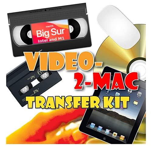 VHS & Camcorder Video Capture Kit. For MacOS. Works with Catalina, Mojave,...